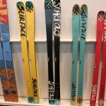2013 Surface Drifter, Double Time, No Time, My Time, Next Time skis