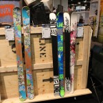 2013 LIne Afterbang shorty, Super Hero, Snow Angel skis