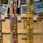 2013 Line Afterbang skis & 2013 Line Traveling Circus skis