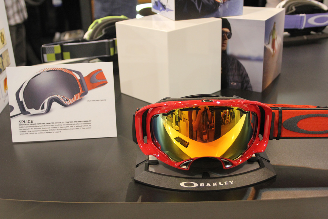 red oakley goggles  2013 Oakley Goggles @ the 2012 SIA Snow Show!