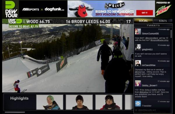 2012 dew tour live stream